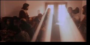 Grebel baptizing Blaurock (from the movie, The Radicals)