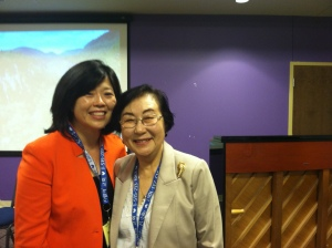 "With Dr. Pilji Kim Joo, who on March 2011 was named one of the 150 ""brave, imaginative, and inspiring woman who shake the world"" by Newsweek."