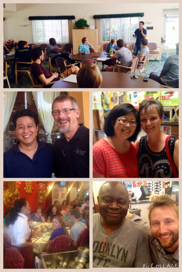 Teams from Radical Journey and DOOR Hollywood came to hear about the story of ReconciliAsian; Del Hershberger and Sharon Norton of MMN led Radical Journey; Matt Schmitt and Marvin Wadlow of DOOR Hollywood; dim sum lunch